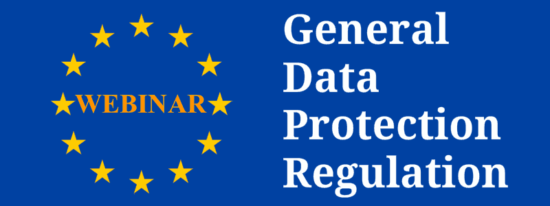 Webinar nuovo regolamento europeo privacy GDPR