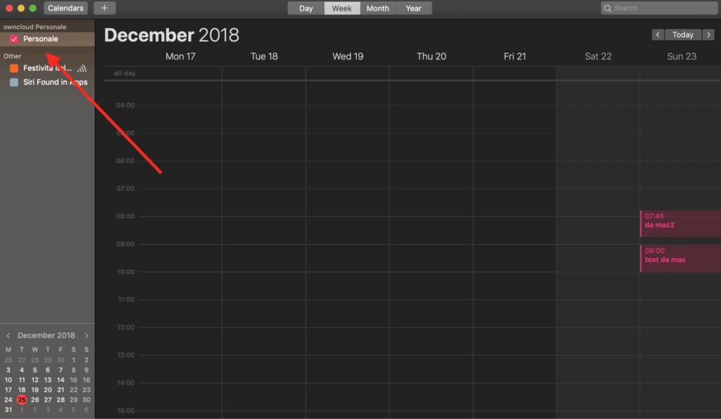 CalDav calendar Mac