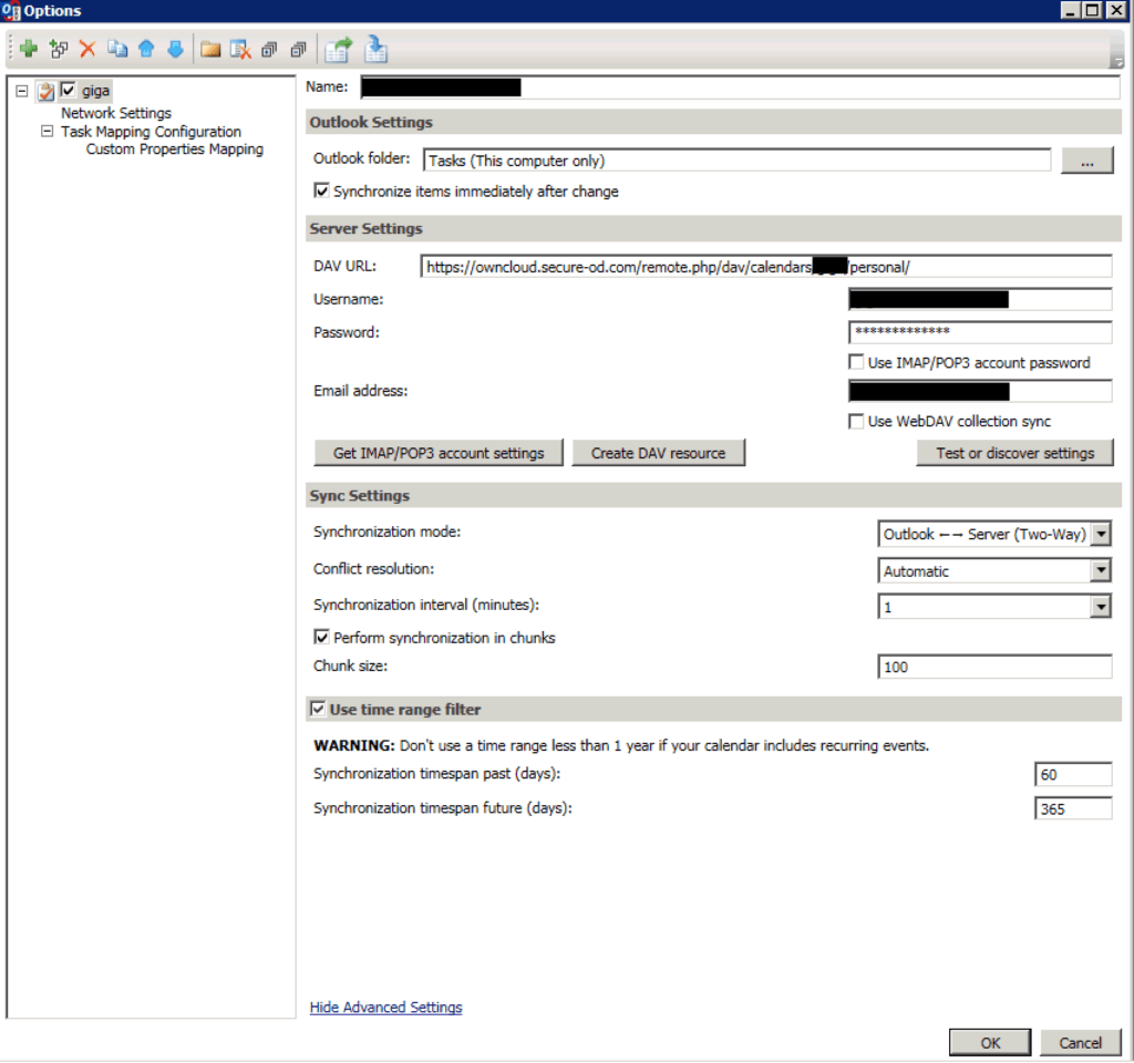 ownCloud sync Outlook1
