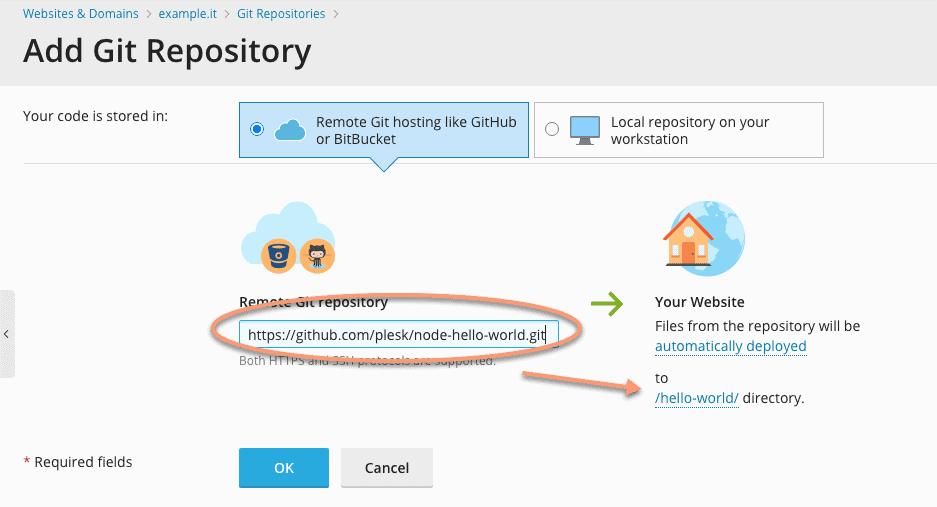 Impostazioni di un Repository