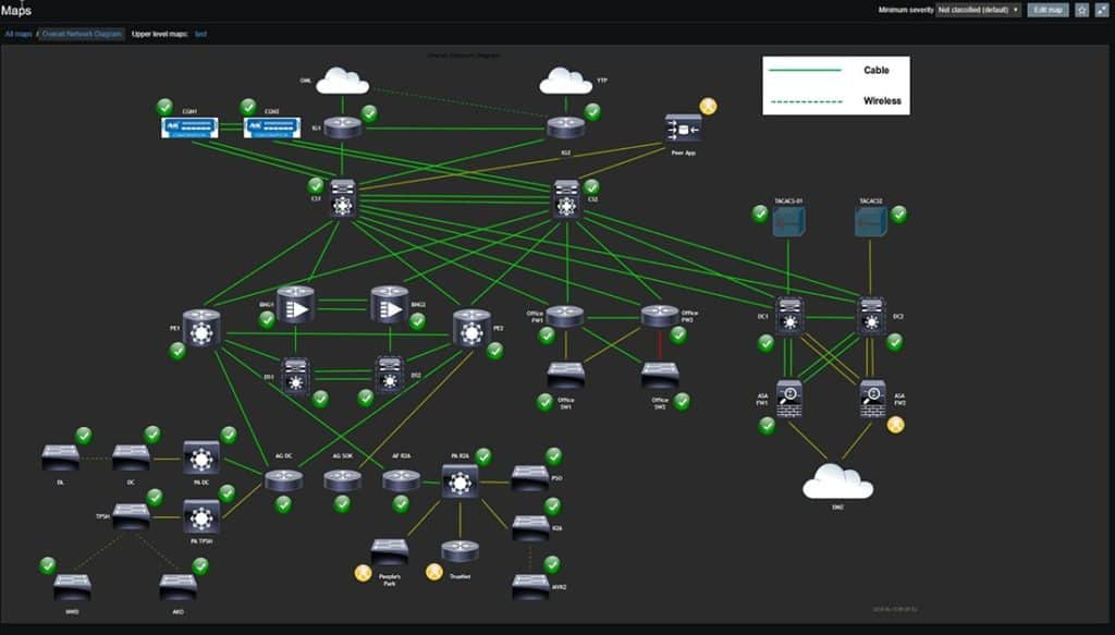 Mappa sistema di monitoraggio