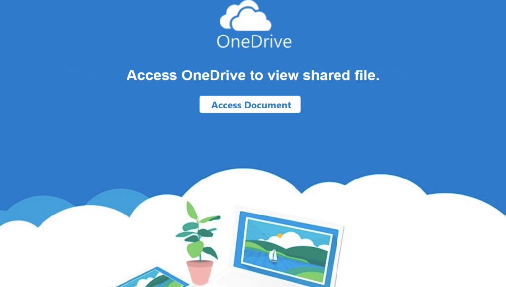 phishing with pdf onedrive file sharing